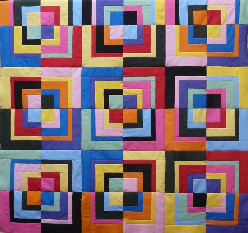 Patchwork Square Quilt Patterns: Quartered Squares Project