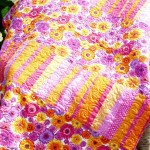 Pink & Orange Daisy Quilt
